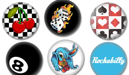 Rockabilly Buttons