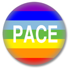 Regenbogenflagge Button Pace