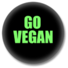 Go Vegan Button