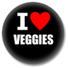 I love Veggies Button
