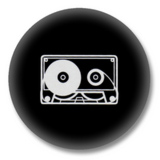 Kassette - 80er Jahre Button Badge / Ansteckbutton