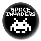 Spave Invader - 80er Jahre Button Badge / Ansteckbutton