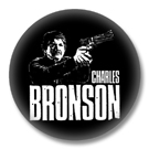 Charles Bronson - 80er Jahre Button Badge / Ansteckbutton