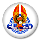 Fall Guy - 80er Jahre Button Badge / Ansteckbutton