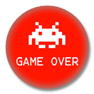 Space Invaders - Game Over - Ansteckbutton