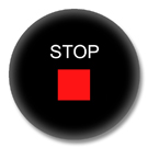 Button mit Motiv - Stop Button