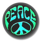 Peace Zeichen Button Badge / Ansteckbutton