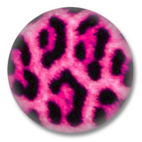 Animal Print Button Badge pinkes Leopard print
