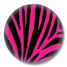 Animal Print Button Badge pinkes Zebrafellmuster