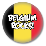 Belgien Button - Belgium Rocks