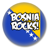 Bosnien und Herzegowina Button - Bosnia Rocks