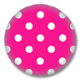 Pink Polkadots Button Badge Rockabilly Emo Style