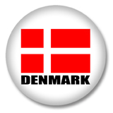 Dänemark Flagge Button