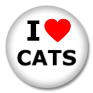 I love Cats Button Badge / Ansteckbutton