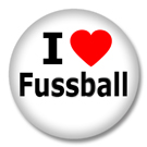 I Love Fussball Button Badge / Ansteckbutton