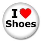 I Love Shoes Button Badge / Ansteckbutton