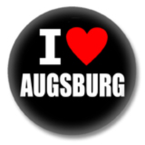 I love Augsburg Button