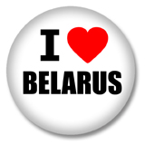 Weißrussland Button - I love Belarus