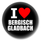I love Bergisch Gladbach Button