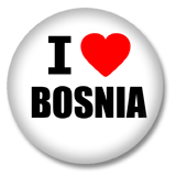 Bosnien Button - I love Bosnia Button