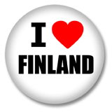 Finnland Button - I love Finland