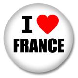 Frankreich Button - I love France