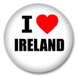 Irland Button - I love Ireland