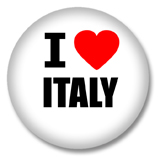 Italien Button - I love Italy
