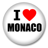 Monaco Button - I love Monaco