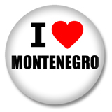 Montenegro Button - I love Montenegro