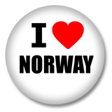 Norwegen Button - I love Norway