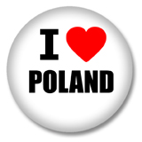 Polen Button - I love Poland