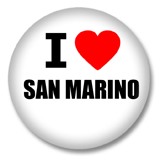 San Marino Button - I love San Marino