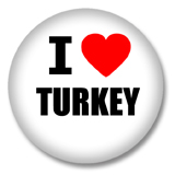 Türkei Button - I love Turkey