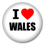 Wales Button - I love Wales