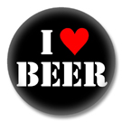 I Love Beer - Button Badge / Ansteckbutton
