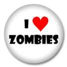 I Love Zombies Button Badge
