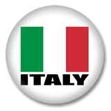 Italien Flagge Button