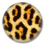Leopardenfellmuster Animal Print Button Badge