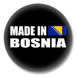 Bosnien Button - Made in Bosnia
