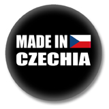 Tschechien Button - Made in Czechia