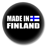 Finnland Button - Made in Finland
