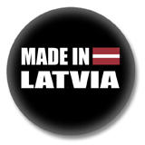 Lettland Button - Made in Latvia