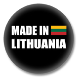 Litauen Button - Made in Lithuania