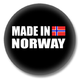 Norwegen Button - Made in Norway
