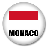Monaco Flagge Button