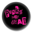 Punks not dead - pink Button Badge / Ansteckbutton