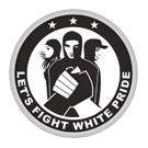 Lets Fight White Pride Button Badge / Ansteckbutton