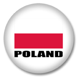 Polen Flagge Button