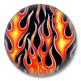 Flammen Button Badge / Ansteckbutton